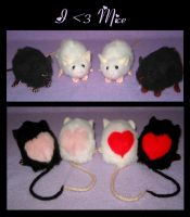 i :heart: Mice Plushies by Morumoto