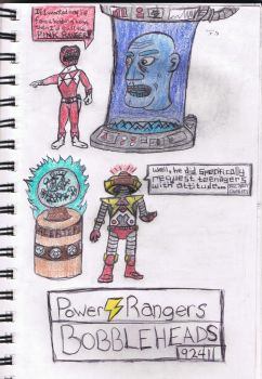 Power Rangers Bobbleheads by XaoSage