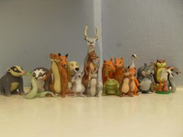 Animals of Farthing wood Hornby figures Complete by redwolf18blue