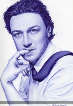 James McAvoy Ball pen (Scanned) by FabianaAzevedo