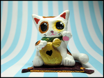 Maneki Neko Figure by GrandmaThunderpants