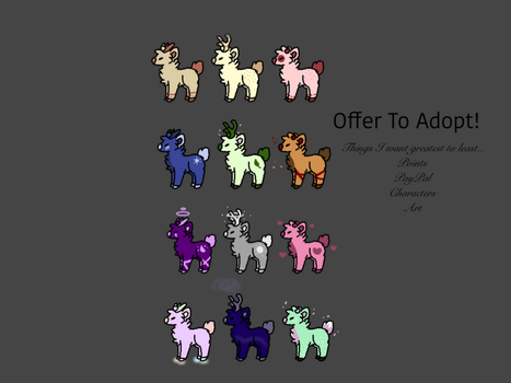 Deer Adopts (OFFER TO ADOPT) (OPEN 1/12) by XxHuskeyxX
