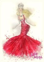 fashion drawing The Queen by Lucas-Arruda