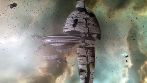 Eve Online - Amarr station ruins by Vollhov
