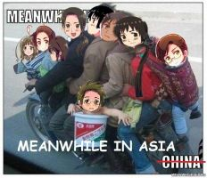 Hetalia-Meanwhile in asia by BlackAndWhiteTiger