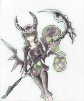black rock shooter fan art by despreocupabloart