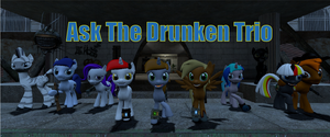 New AsktheDrunkenTrio Tumblr banner. by headhunter100060