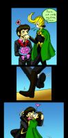TonyxLoki- Sweep Me Off My Feet Color by LordStarscream42