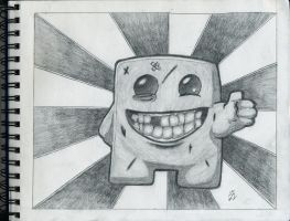 Super Meat Boy! [Fanart] by Mysterious-Master-X