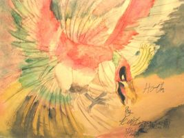 Ho-oh :Watercolor: by Kagamikage
