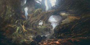 KOBO: Ancient Forest 2 by JackEavesArt