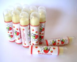 Strawberry Lip Balm by The-Cute-Storm