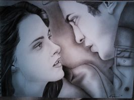 Bella and Edward Twilight by michaelaant