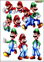 Mario Luigi : Superstar Saga :Traditional: by RatchetMario