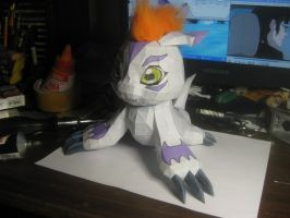 Gomamon papercraft by Zimberdum