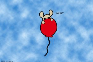Squee On Balloon by chelano