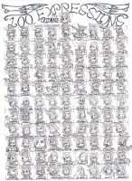 100 Expressions Meme by Date-Masamuneplz
