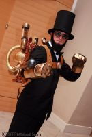 Steampunk Lincoln 1 by Insane-Pencil