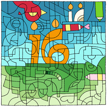 Birthday Coloring Challenge by TamaCorp