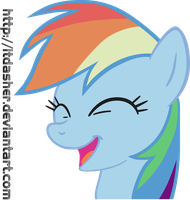 Happy Rainbow Dash Vector by LtDasher