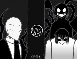 Slenderman VS Nazar and the Judge by The-Metal-Maniac
