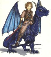 Eragon and Saphira by Knightmarish-Dreamer