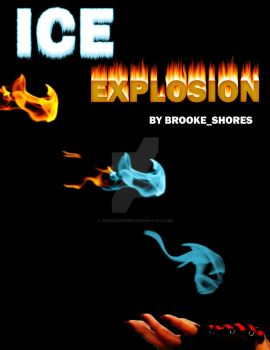 Ice Explosion Book Cover by fenicksreborn