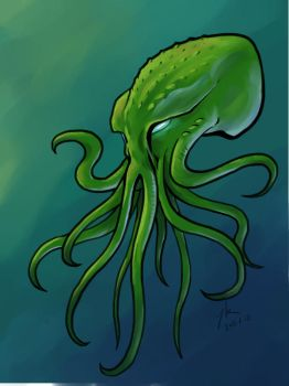Is that a octopus? Or a Cuthulhu head? by YKChiropter