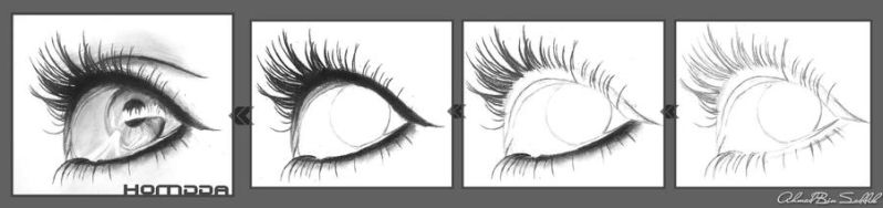 Steps to draw a eye by homdda