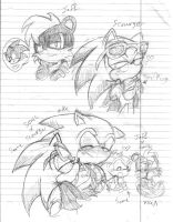 Some Yaoi Archie sketches by SonicMiku