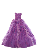 Flowing Purple Ball Gown PNG by Vixen1978
