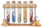 Bottled: Test Tube Slimes by emla