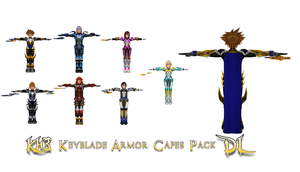 MMD KH3 Keyblade Armor Capes Pack DL by todsen19