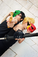 Homestuck - Dirk Strider and Jake English by xAmaliex
