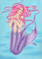 Dreamy Mermaid Print by Zindy