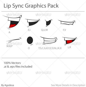 Lip Sync Graphics Pack by agodesa