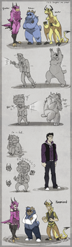 123 SMS drawings by BlasticHeart