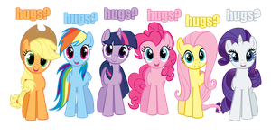 Hugs Vector Mane 6 by kittyhawk-contrail