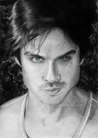 Ian Somerhalder as Damon by Ilojleen