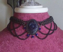 Indigo Rose Choker by hwkwlf