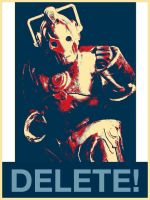 Cyberman - Doctor Who - Cosplay poster by AndreaBarbieri