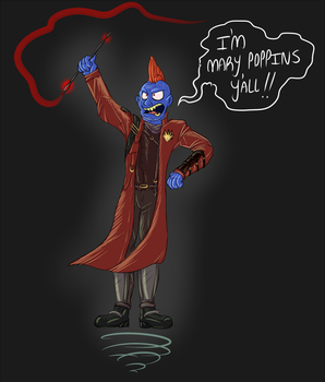Mary Poppins in SPACE by Earwiggy