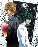 Death Note Light and L  .fancel. by escafan