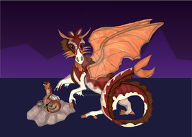 Mom and Baby Dragon by WildHorseFantasy