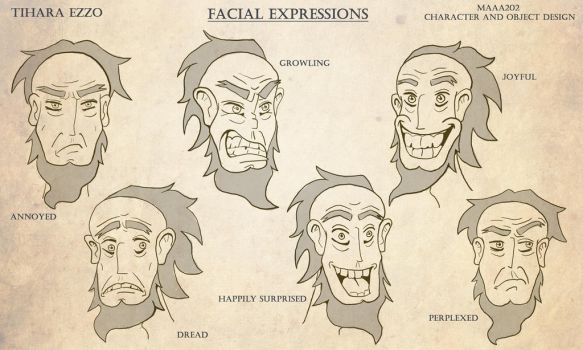 Captain Ahab Expressions by kamink