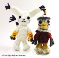 Gatomon and Hawkmon by leftandrightdolls