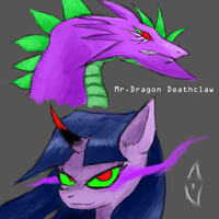 Evil twilight and Spike by marky1212