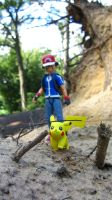 Ash + Pikachu in: The Cave I by fumpenfoto