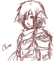 Chrono-Sinx sketch by LadyRawr