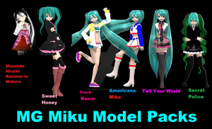 MG Miku Model Pack by FrankiePalacio